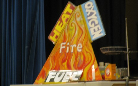 Fire needs these 3 - oxygen, heat and fuel.