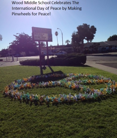 Wood Middle School Celebrates the International Day of Peace 2013