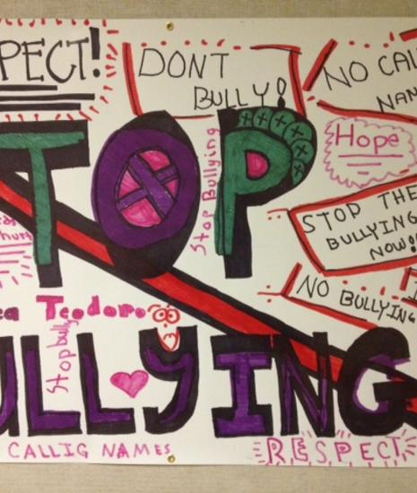 Anti-bullying poster contest 2013 winner!